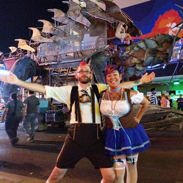 Halloween in Vegas - Burning Man art car parade! OMG!